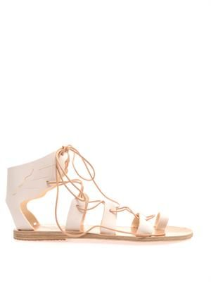 Fteroti leather sandals