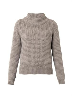 Violet cashmere knit sweater