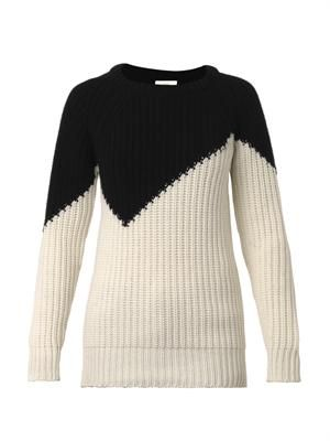 Flash wool and cashmere-blend sweater