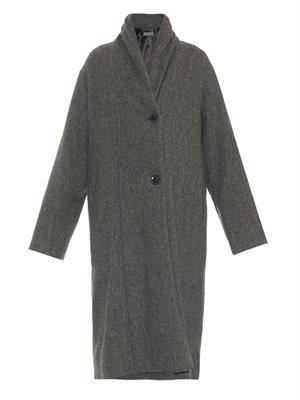 Shawl-lapel oversized coat