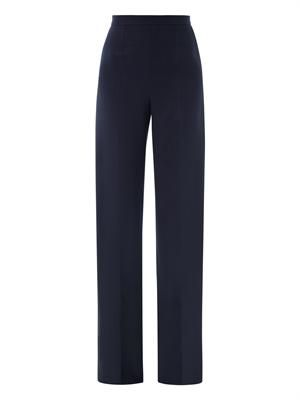 Castor crepe tailored trousers