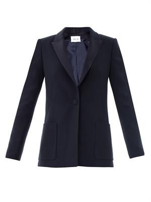 Cosmos crepe tailored jacket