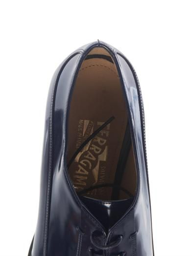 Salvatore Ferragamo Nueda leather oxford brogues