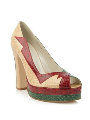 Luna snakeskin shoes