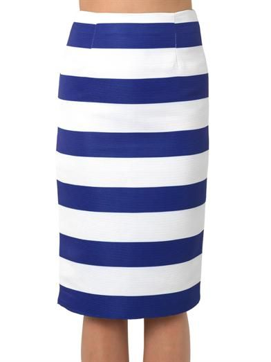 Camilla and Marc Moderator striped pencil skirt