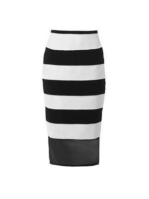 Adversary textured-stripe pencil skirt