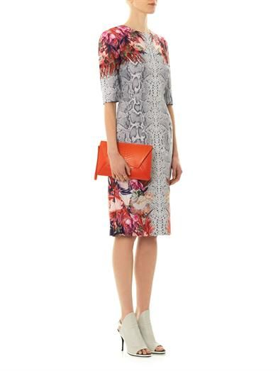 Camilla and Marc Vector floral and snake-print dress