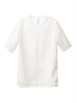 Spade cut-out lace top