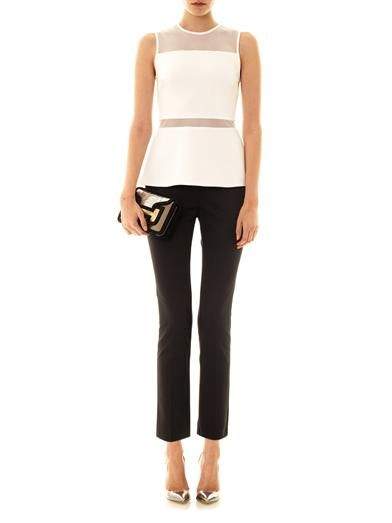 Camilla and Marc Mesh panel peplum top