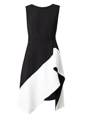 Bi-colour crepe dress