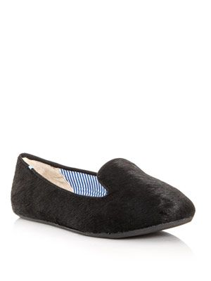 Lizzette calf-hair slippers