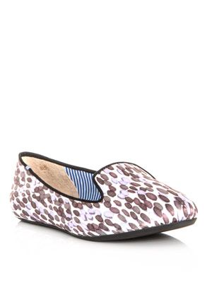Sheila drop-print satin slippers