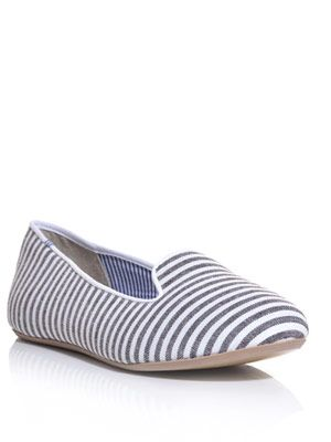 Tropez stripe slippers