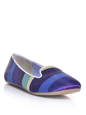 Sheila wide stripe slippers