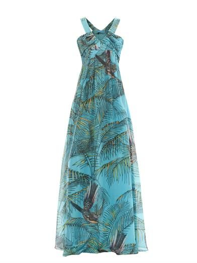 Matthew Williamson Escape Songbird cotton silk-blend maxi dress