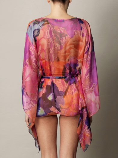 Matthew Williamson Escape Acid flower-print kaftan