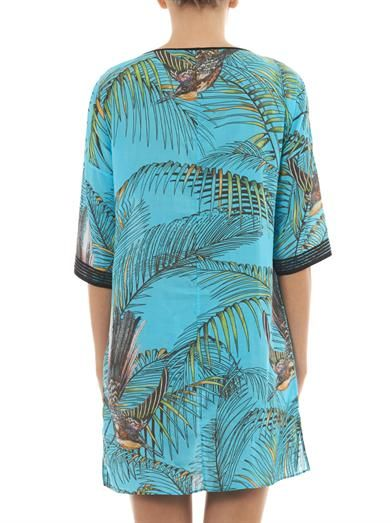 Matthew Williamson Escape Songbird-print kaftan