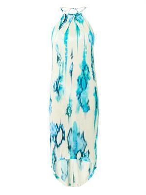 Tie-dye snakeskin-print jersey dress