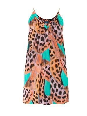 Butterfly wing-print cover-up