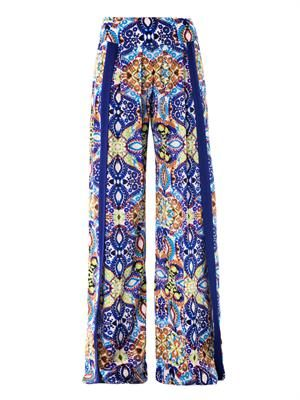 Tula lace-print wide-leg trousers
