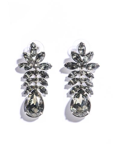 Madame Dumont leaf detail earrings   :  designer fashion madame dumont leaf detail earrings jewellery