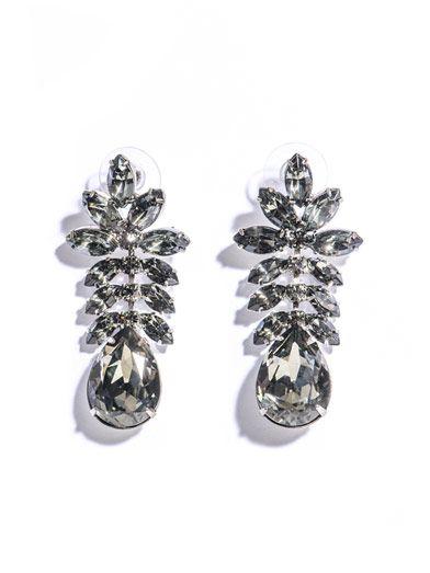 Madame Dumont leaf detail earrings