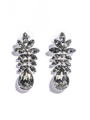 Madame Dumont leaf detail earrings