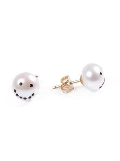 Nektar De Stagni Drama crystal & pearl earrings