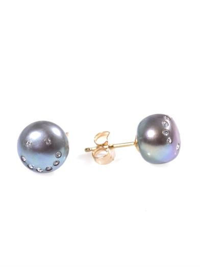 Nektar De Stagni Crystal and pearl earrings