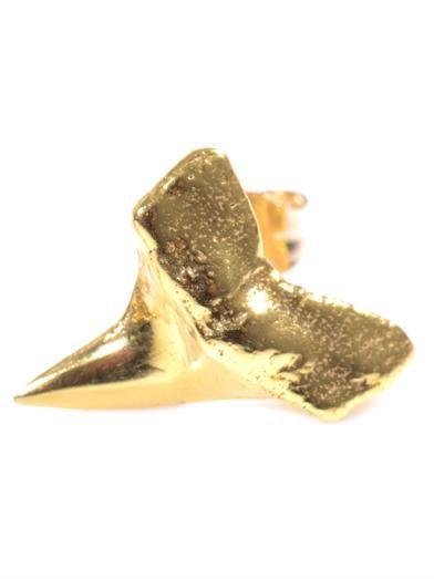 Nektar De Stagni Shark's tooth gold-vermeil earrings