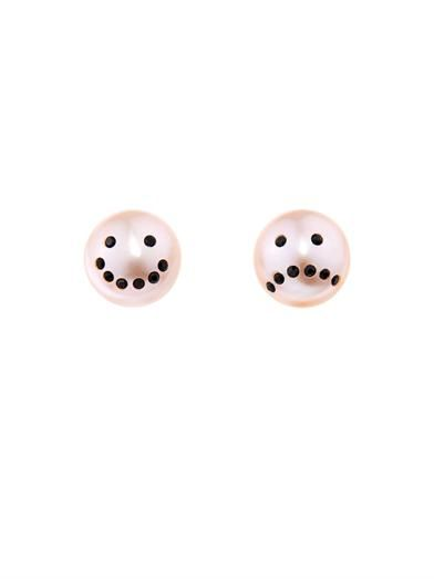 Nektar De Stagni Drama pink-pearl earrings