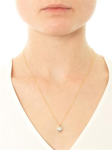 Nektar De Stagni Smiley face pearl necklace