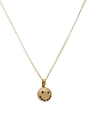 Smiley face gold-plated necklace