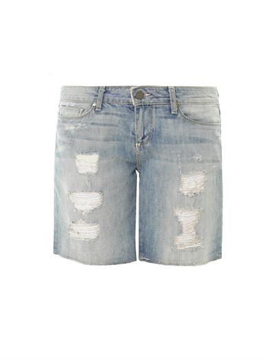 Paige Denim Grant distressed denim shorts