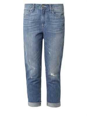 Callie high-rise cropped boyfriend jeans