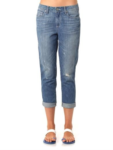 Paige Denim Callie high-rise cropped boyfriend jeans