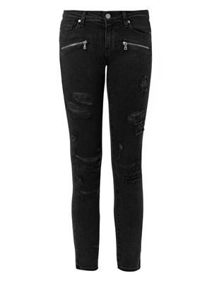Indio Zip mid-rise skinny jeans