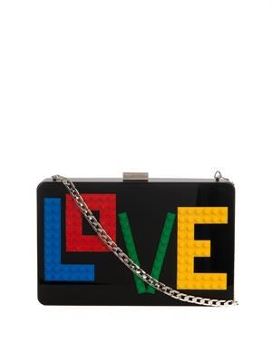 Andy Rainbow Love Perspex clutch