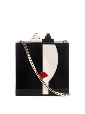Frida Princess Perspex clutch
