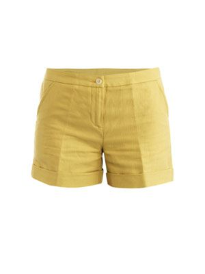 Linen turn-up shorts