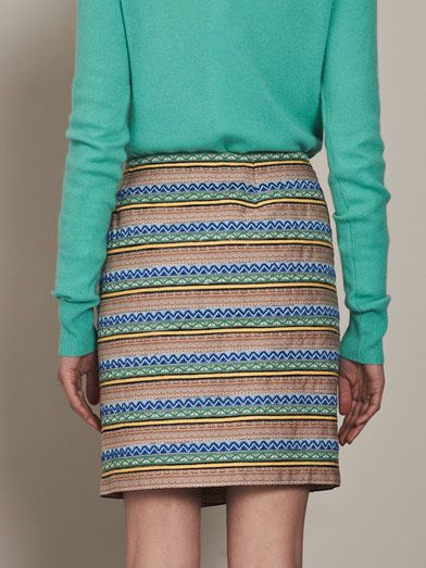Boy. by Band Of Outsiders Striped jacquard wrap skirt