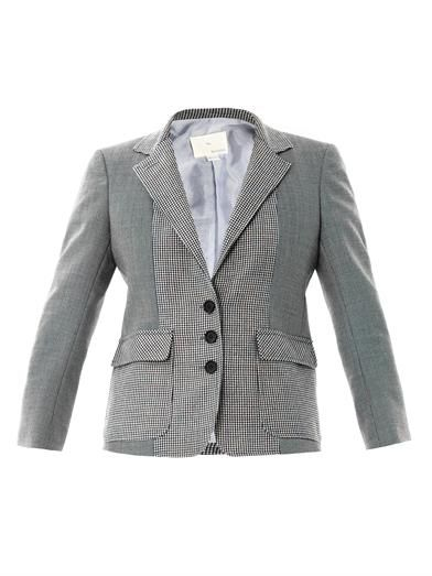 Boy. by Band Of Outsiders Contrast check wool blazer