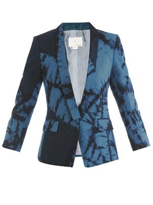 Tie-dye shawl collar jacket