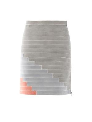 Stripe stretch skirt