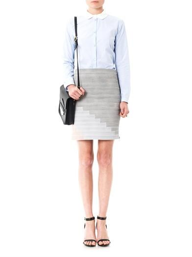 Boy. by Band Of Outsiders Stripe stretch skirt