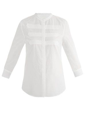 Military detail blouse
