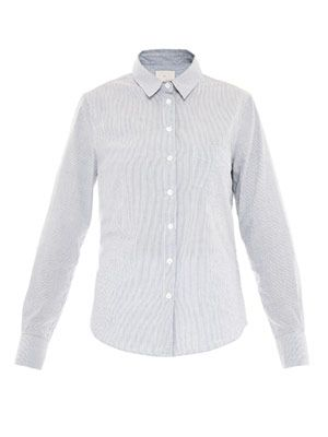 Micro-stripe cotton shirt