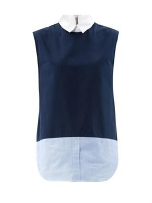 Mixed sleeveless shirt