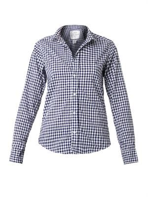 Barry gingham-check cotton shirt