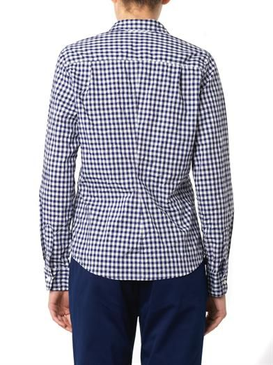 Frank & Eileen Barry gingham-check cotton shirt